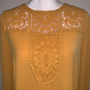 Halogen Tops - Halogen Lace And Crepe Blouse